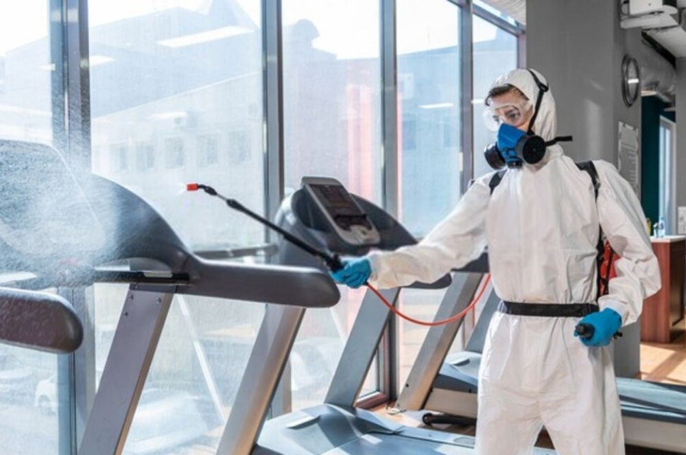 Gym Cleaning Services - Electrostatic Disinfecting (1)